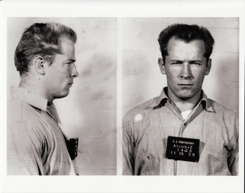 """This prison transfer photo of James """"Whitey"""" Bulger from the U.S. Penitentiary at Alcatraz, in San Francisco, is included in the documentary film, """"Whitey: United States of America v. James J. Bulger."""""""