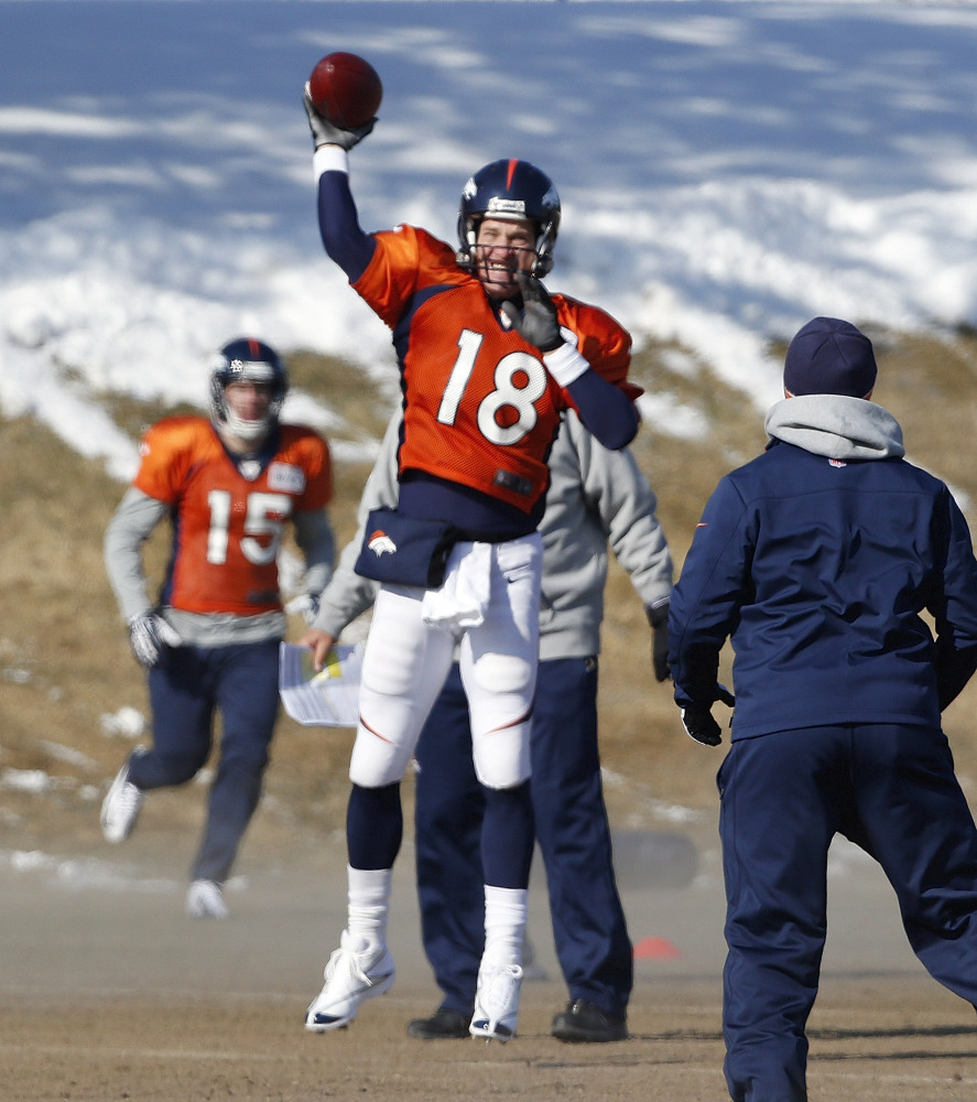 IT'S GOING TO BE COLD: Peyton Manning has a reputation for struggling in cold weather, but can put that to rest when the Denver Broncos face the Seattle Seahawks in the Super Bowl in East Rutherford, N.J. on Sunday, Feb. 2.