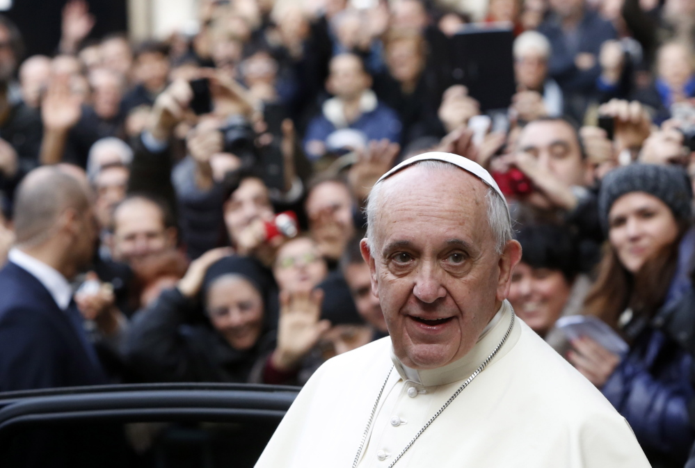"Pope Francis is drafting and encyclical on ""the ecology of man."""
