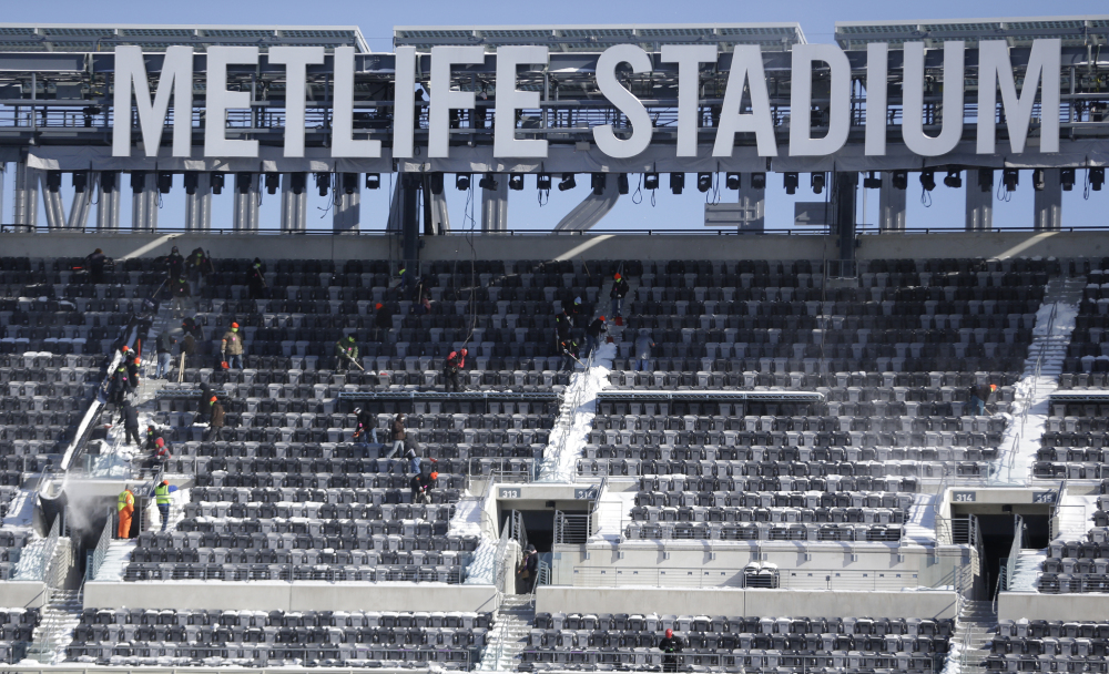 The Super Bowl on Feb. 2 will be played at MetLife Stadium in New Jersey. The NFL, however, has used its program cover and tickets to display the New York City skyline, making several New Jersey politicians unhappy.