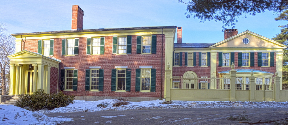 the Daniel Cony Weston House on Stone Street that's home to the Elsie & William Viles Foundation in Augusta on Thursday January 23, 2014.