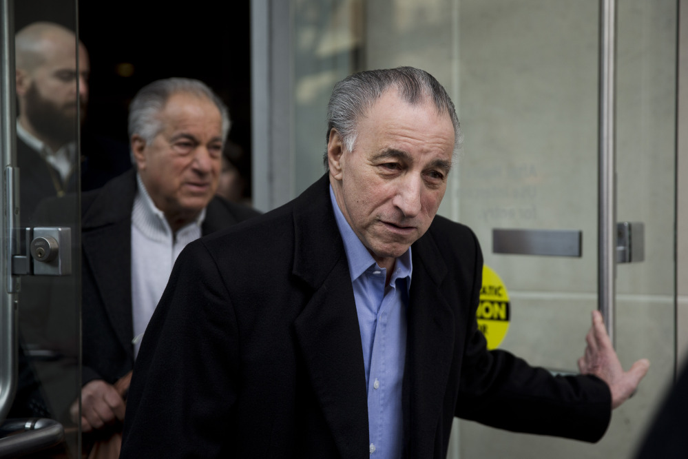"Joseph ""Uncle Joe"" Ligambi leaves the U.S. Courthouse in Philadelphia on Tuesday."