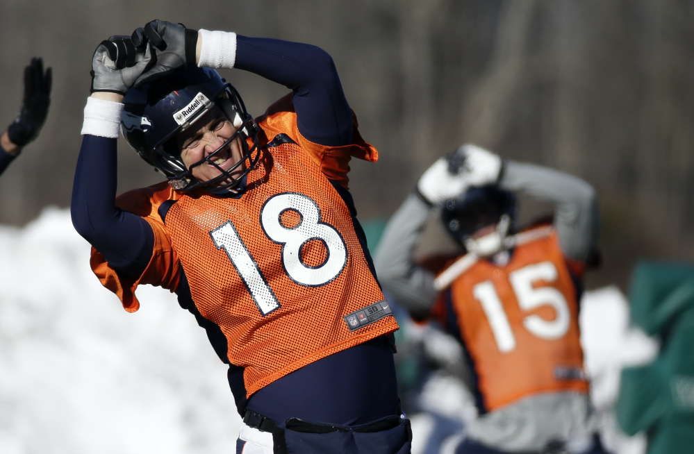 WHAT COULD HAVE BEEN: The Seattle Seahawks pursued Peyton Manning before he joined the Denver Broncos, waiting on a plane in Denver hoping the quarerback would change his mind. He didn't instead signing with the Broncos. Now both teams meet in Super Bowl XLIII.