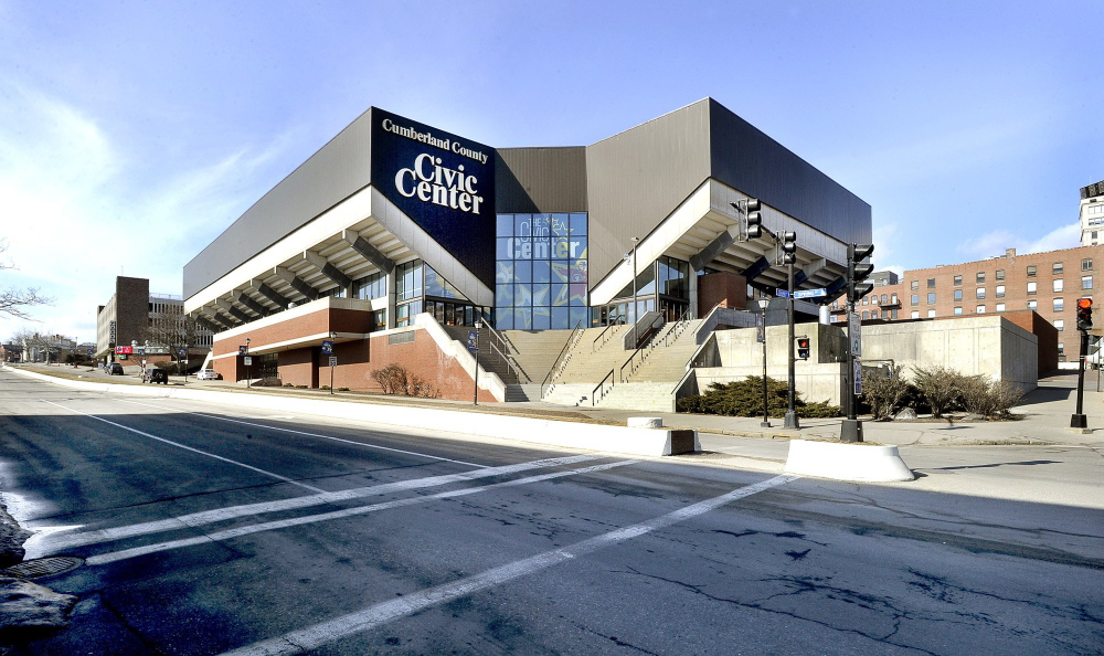 The Cumberland County Civic Center in 2012, before a $34 million renovation to be completed soon.