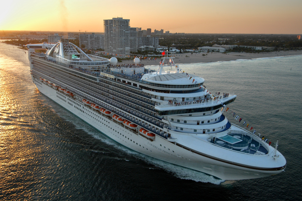 The Caribbean Princess leaving Fort Lauderdale, Fla., in 2004.