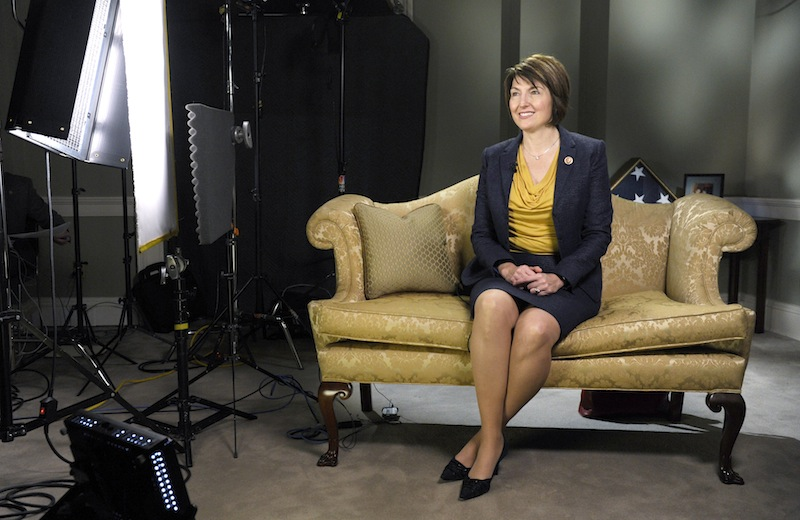 Rep. Cathy McMorris Rodgers, R-Wash., rehearses the Republican response to the State of the Union on Capitol Hill that she will deliver in Washington, Tuesday, Jan. 28, 2014.