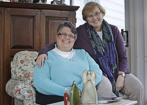 Carol Schall, left, and Mary Townley of Richmond, Va., who were married in California in 2008, are challenging Virginia's ban on same-sex marriage.