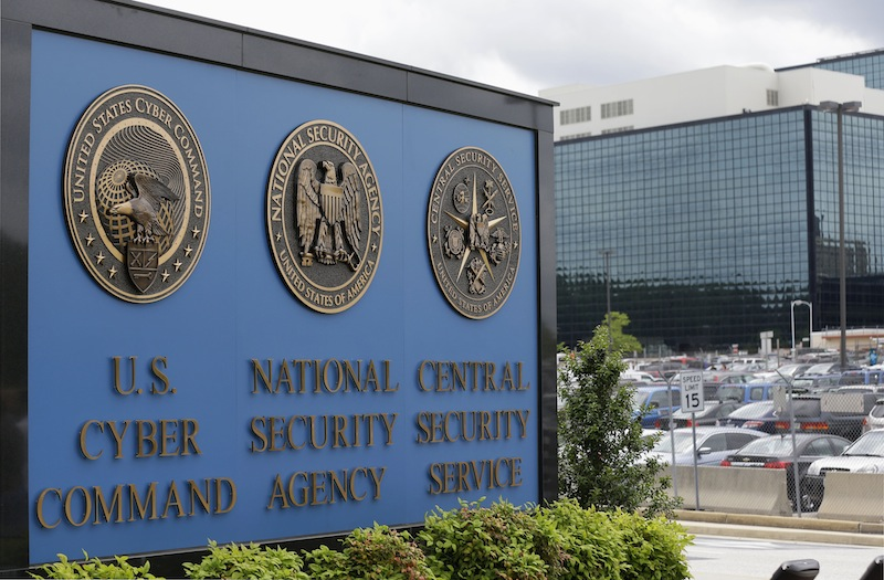 This June 6, 2013 file photo shows the sign outside the National Security Agency (NSA) campus in Fort Meade, Md. President Barack Obama is hosting a series of meetings this week with lawmakers, privacy advocates and intelligence officials as he nears a final decision on changes to the government's controversial surveillance programs.