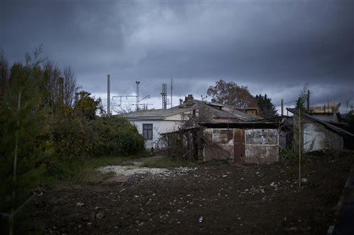 The 5a Akatsiy St. house is in the village of Vesyoloye outside Sochi, Russia. As the Winter Games are getting closer, many Sochi residents are complaining that their living conditions only got worse and that authorities are deaf to their grievances.