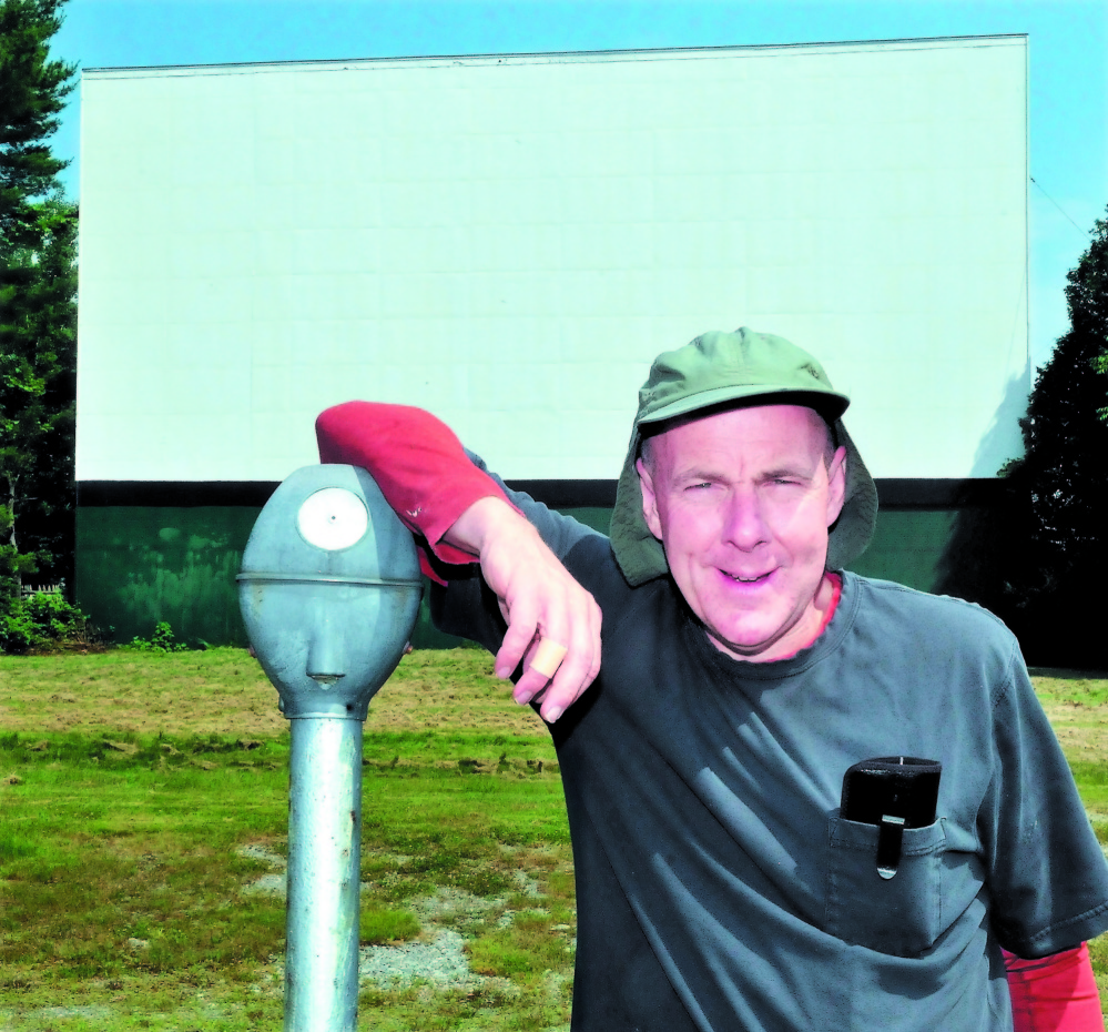 BIG SCREEN: Donald Brown Jr., owner of the Skowhegan Drive-In, says that if Skowhegan and other communities want to keep their drive-in theaters, they must help finance the operation and convert film reels to digital movies.