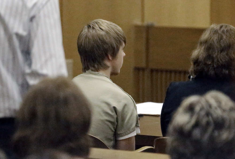 Ethan Couch sits in juvenile court for a hearing about his future Wednesday in Fort Worth, Texas.