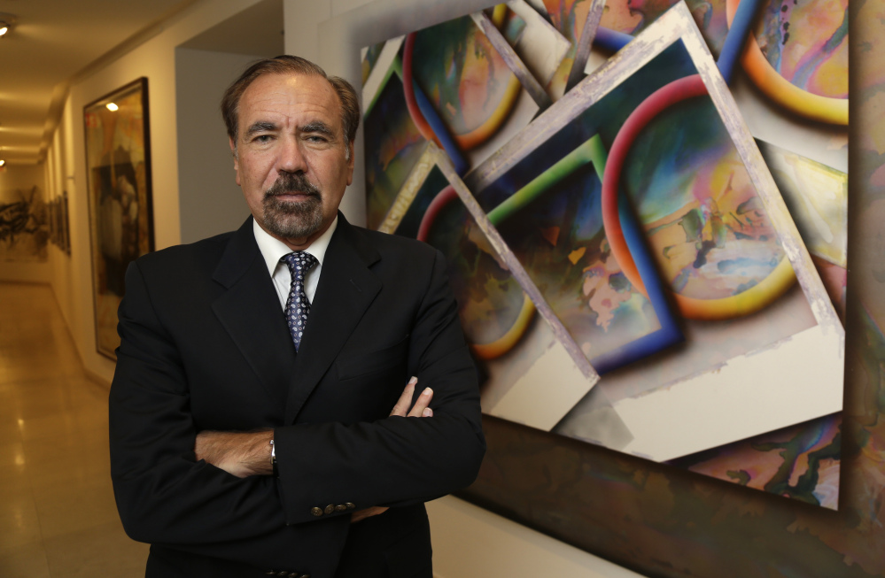 Developer and art collector Jorge Perez, poses for a photograph in his office at the Related Group, in Miami.
