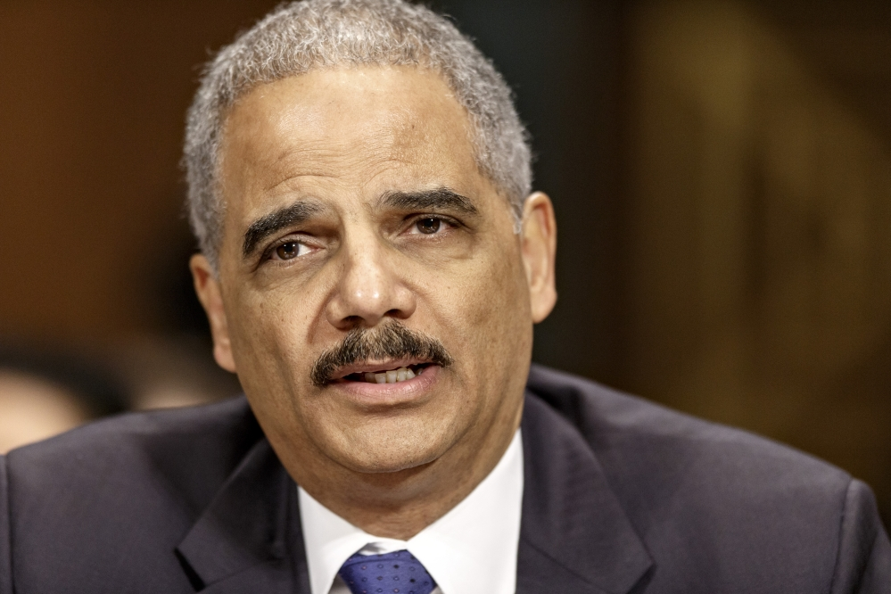 Attorney General Eric Holder testifies in January on Capitol Hill in Washington.