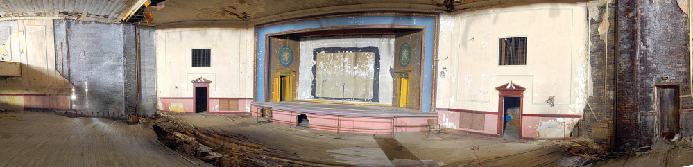 Staff photo by Joe Phelan This panorama made from several photos taken on Friday February 7, 2014 shows the Colonial Theater in Augusta.