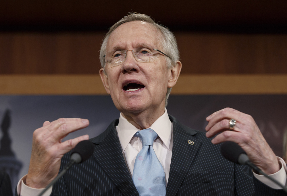 "Senate Majority Leader Harry Reid, D-Nev., has said, ""I'm against fast track."""
