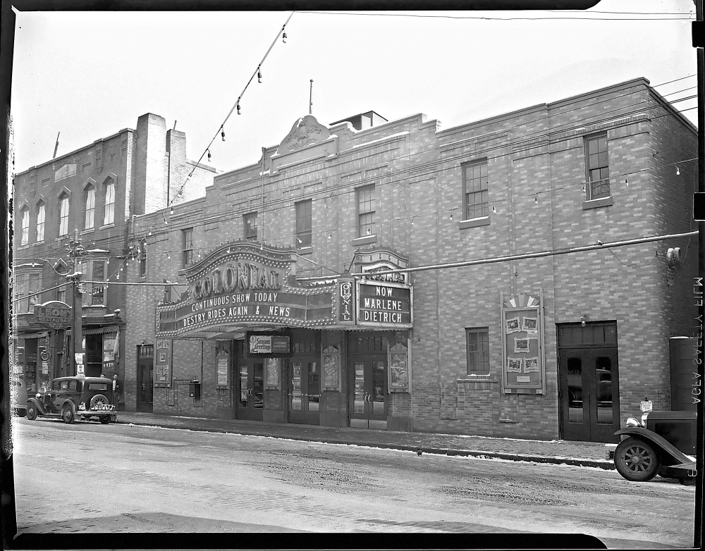 Staff file photoWhen it was a cinema: This 1940 photo shows the Colonial Theater on Water Street in downtown Augusta.