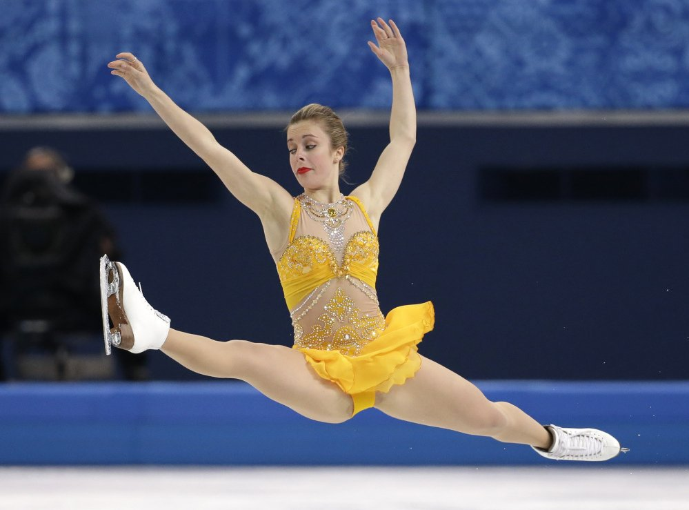 Ashley Wagner of the United States competes in the women's free skate figure skating finals at the Iceberg Skating Palace during the 2014 Winter Olympics, Thursday, Feb. 20, 2014, in Sochi, Russia.