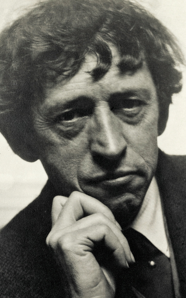 The painter John Marin, photographed by Alfred Stieglitz, 1922. Marin (1870-1953), an early American modernist, lived in Maine part-time toward the end of his life. This media file is in the public domain in the United States. This applies to U.S. works where the copyright has expired, often because its first publication occurred prior to January 1, 1923.