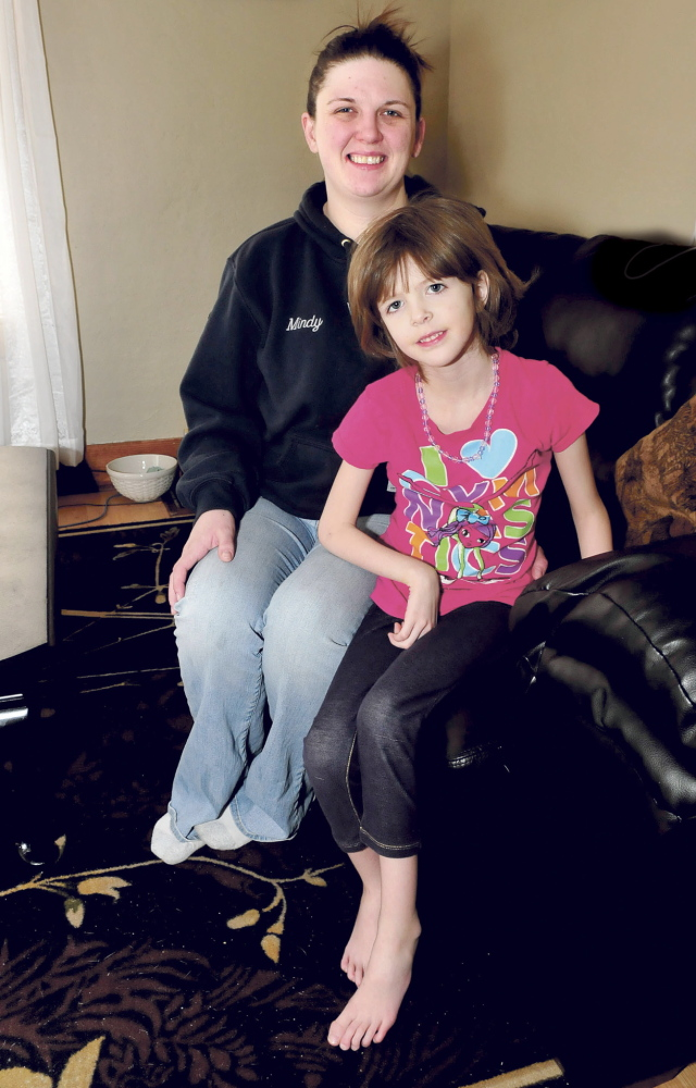 marfan: Mindy Parker and her daughter Kaitlyn, of Augusta, are dealing with Marfan syndrome, which afflicts the young girl and can affect ligaments and the heart.