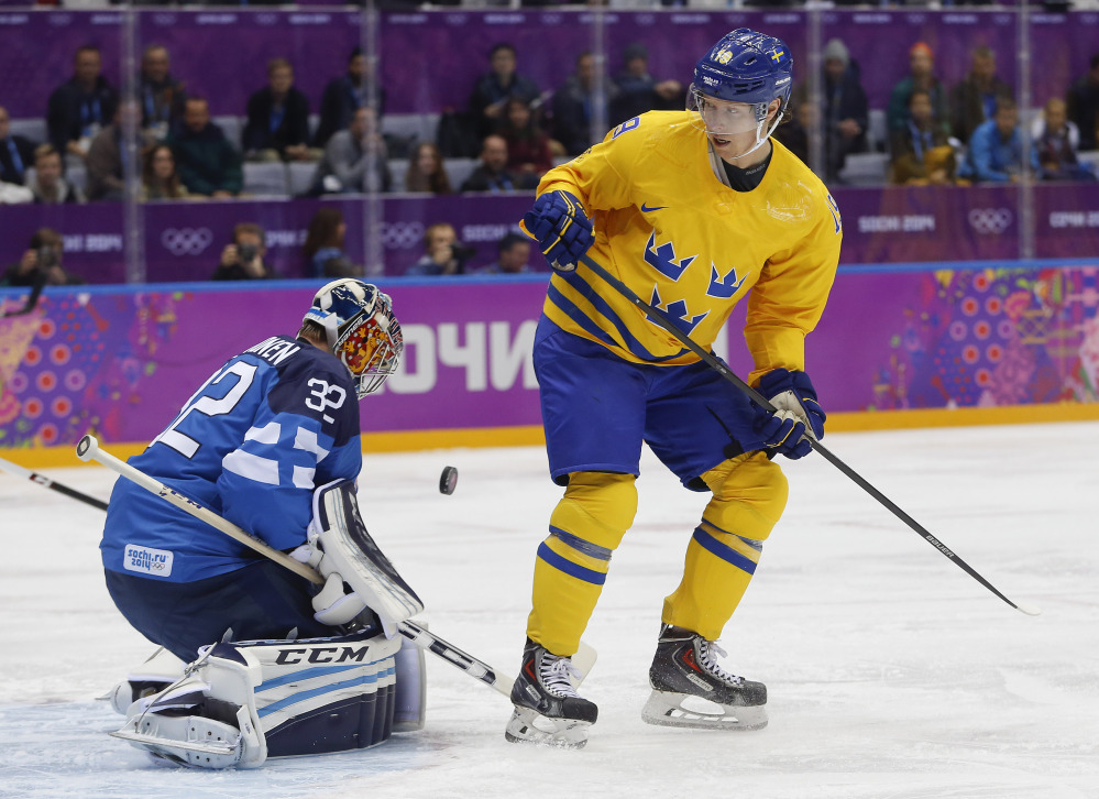 Sweden forward Nicklas Backstrom did not play in Sunday's gold-medal final against Canada because he failed a doping test.