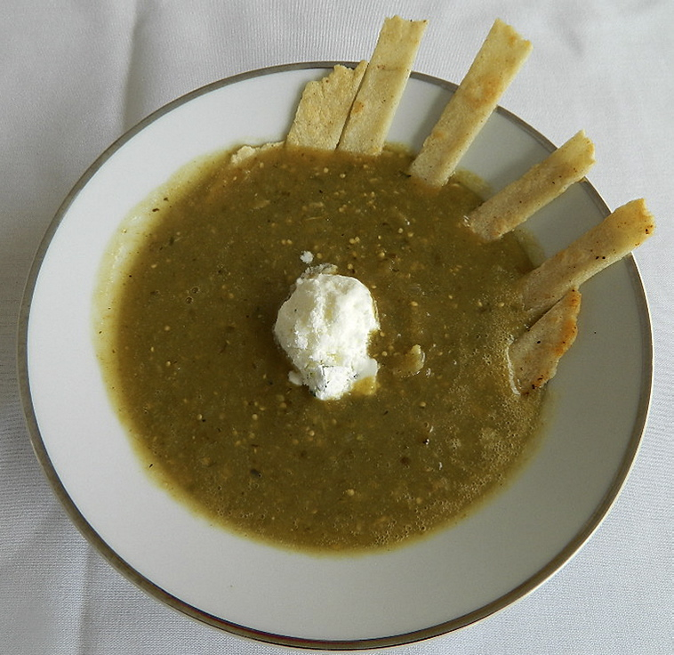 Roasted Tomatillo Soup