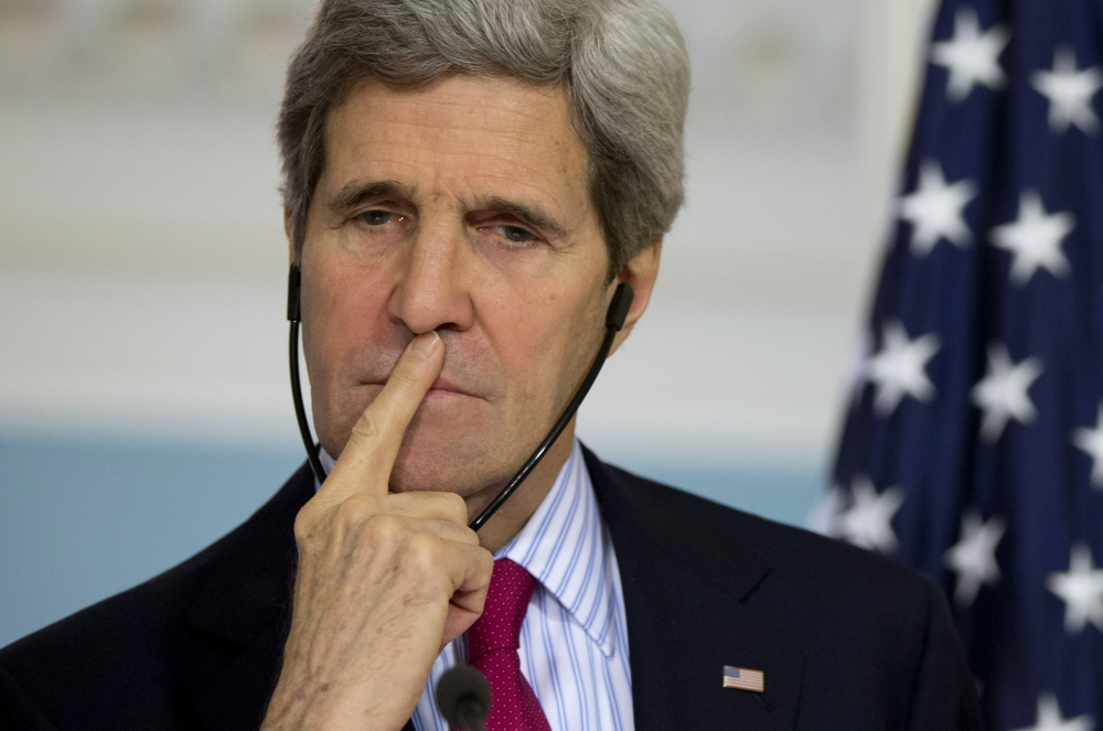 "Secretary of State John Kerry says he spoke with foreign ministers from the Group of Eight countries and a few other nations, and ""every single one of them are prepared to go to the hilt in order to isolate Russia"" because of the invasion."