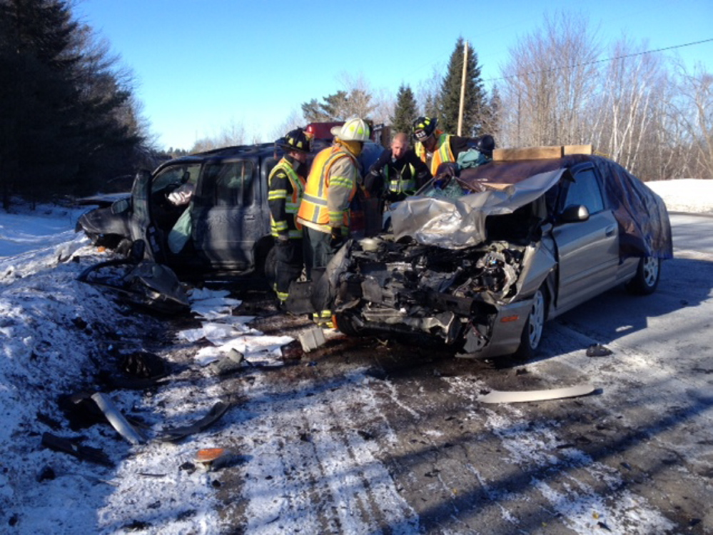 HEAD-ON SMASH: One woman was killed in an accident Thursday around 7:30 a.m. when a car and an SUV collided on U.S. Route 202 in Monmouth.