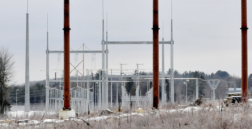 SUBSTATION: A Central Maine Power substation in Benton off Albion Road.