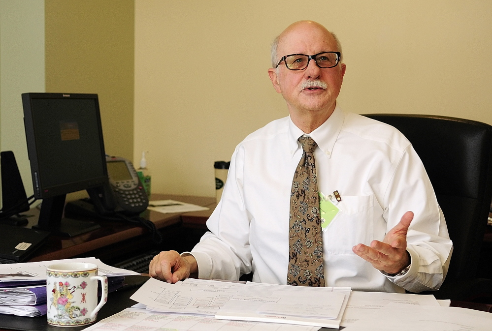 RIVERVIEW CHIEF: Acting superintendent Jay Harper speaks during an interview on Thursday in his new office at Riverview Psychiatric Center in Augusta.