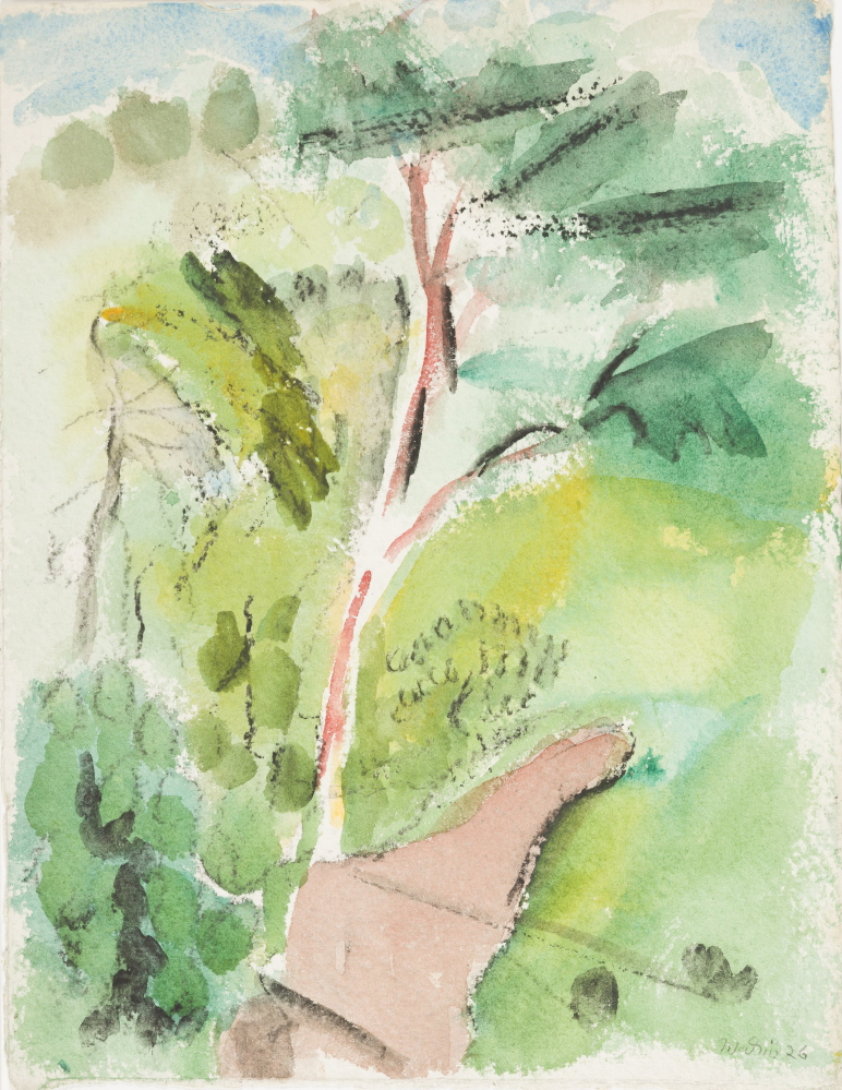 "Marin's 1926 watercolor ""Tree, Stonington, Deer Isle,"" part of a gift to an art museum in Arkansas."
