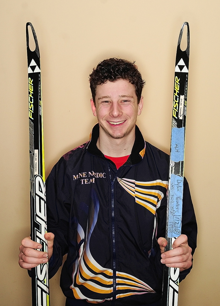 Skier of the Year: Monmouth Academy's Dylan Thombs is the 2014 Kennebec Journal Nordic Skier of the Year.