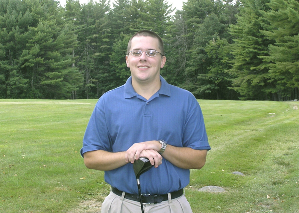 Tom Chalmers, an avid golfer, was out on the course in 2004 after his surgery for a brain tumor but before he began radiation therapy.
