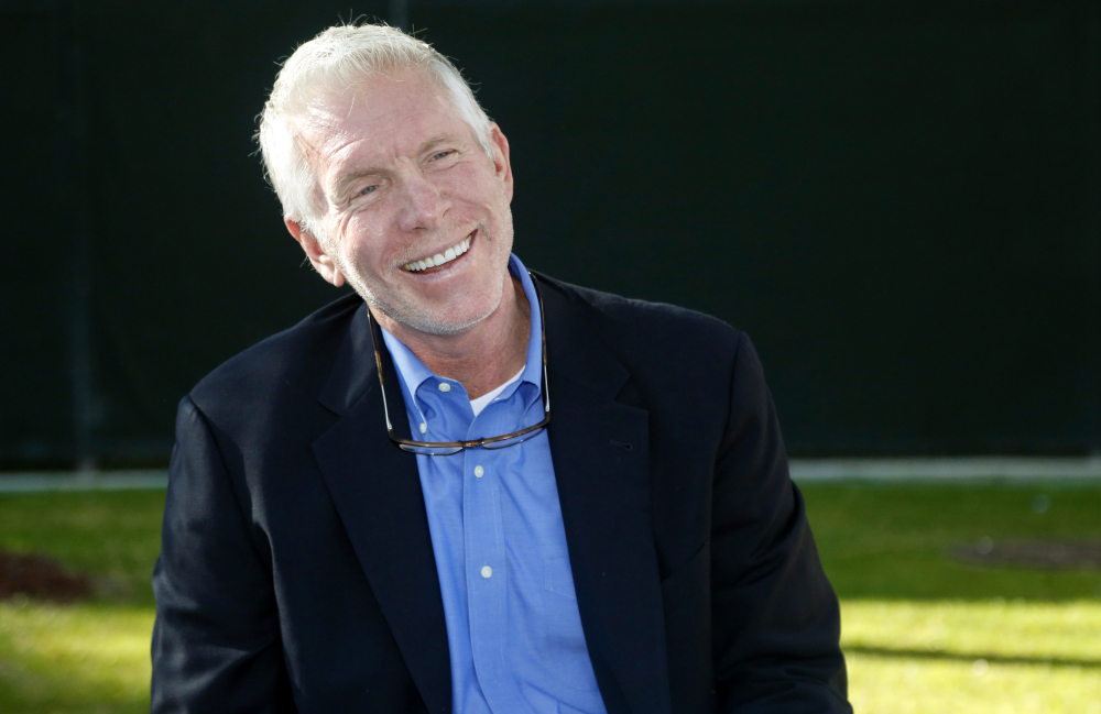 Baseball Hall of Famer and former Philadelphia Phillies third baseman Mike Schmidt speaks at a press conference at the Phillies' spring training complex on Sunday in Clearwater, Fla.