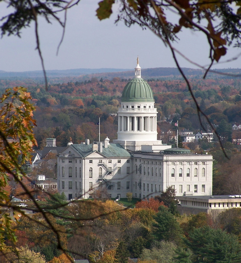 HILLSIDE VIEW: The land behind the state House is an undeveloped gem in the heart of the city, Kennebec Land Trust officials say.