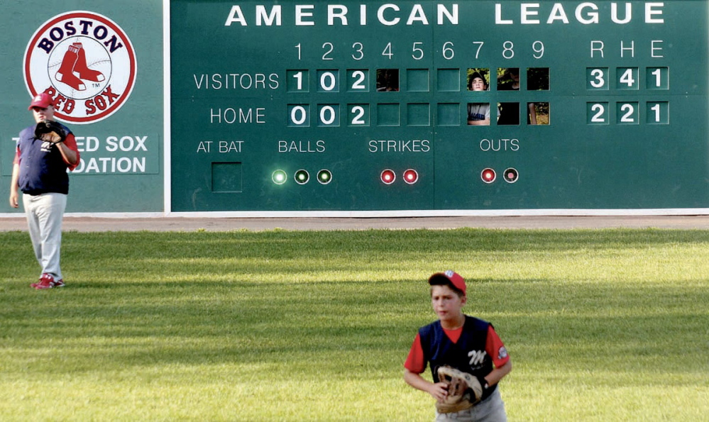FIELD PLAY: A Cal Ripken Baseball tournament is held at Mini Fenway in Oakland in 2009.