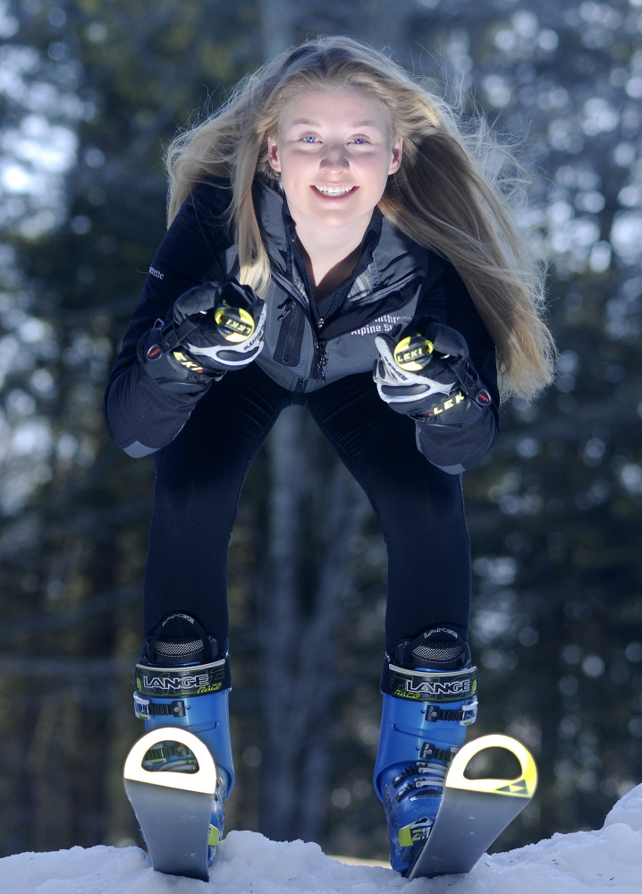 Staff photo by Andy Molloy Annie Guerette of Winthrop is the Kennebec Journal's woman's Alpine Skier of the Year.