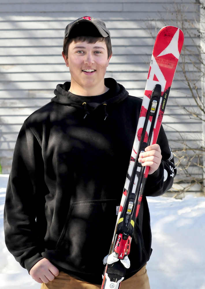 Staff photo by David Leaming Michael Miller is Morning Sentinel Alpine Skier of the Year.