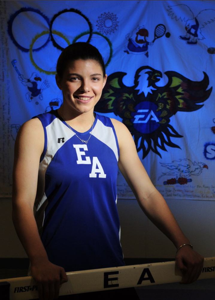 Staff photo by Joe Phelan Erskine Academy's Jade Canack is the 2014 track athlete of the year.