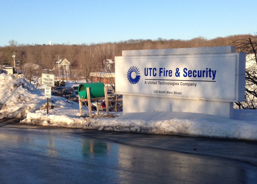 plant to close: United Technologies Corp. in Pittsfield, seen here Tuesday night, announced it will close within a year and move 300 jobs elsewhere.