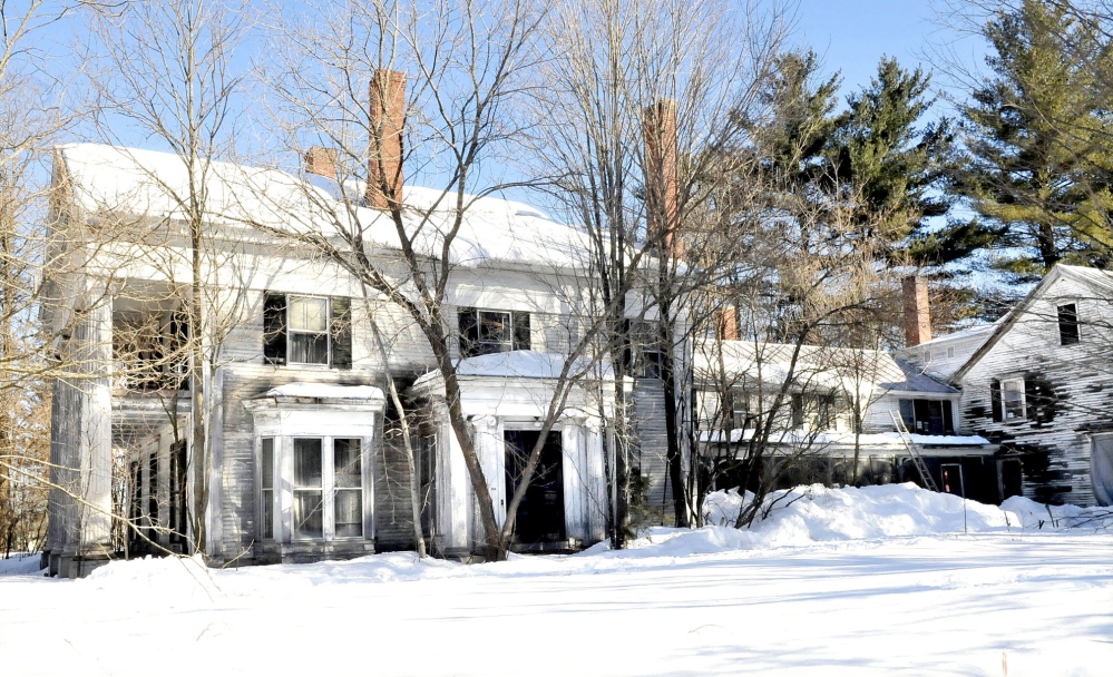 FIXER UPPER: The home of former Maine Gov. Abner Coburn in Skowhegan has fallen into a state of disrepair. On Saturday, there will be a celebration of Coburn's 211th birthday.