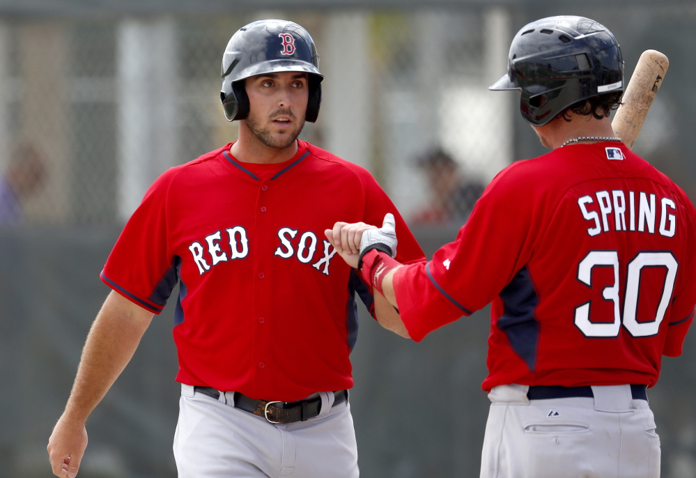 Turnaround: Travis Shaw, a first baseman in the Boston Red Sox farm system, had a difficult 2013 season with the Portland Sea Dogs. But a strong Arizona Fall League showing helped Shaw entering spring training.