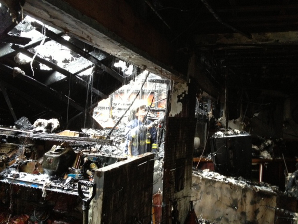 A mere skeleton: Early morning fire destroys Webb's Store in Randolph.