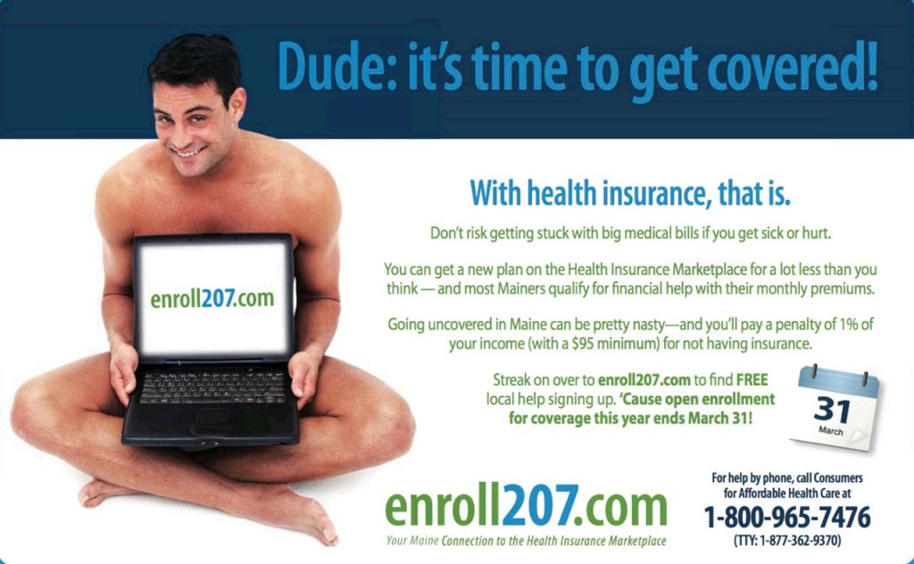 The ad for www.enroll207.com that ran this week in the Portland Phoenix alternative newspaper.