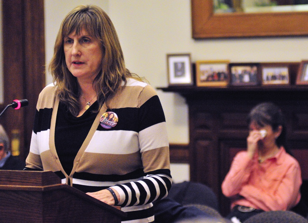 Judith Richardson talks about the unsolved 2010 killing of her daughter Darien Richardson while testifying February at the State House in Augusta during a public hearing on a bill to create a cold case squad to investigate unsolved homicides.