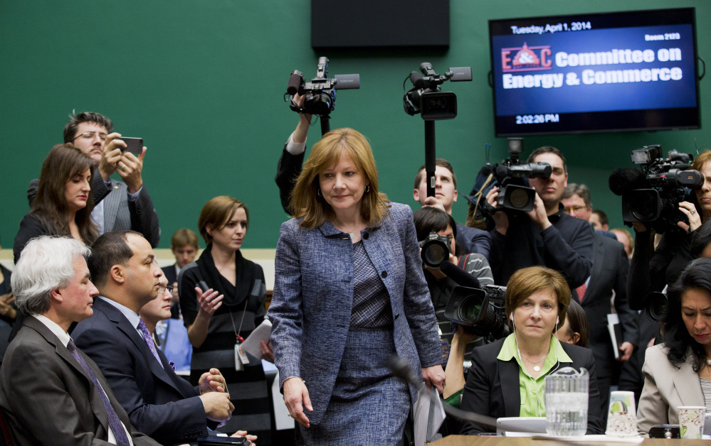 General Motors CEO Mary Barra arrives Tuesday on Capitol Hill to testify before the House Energy and Commerce subcommittee on Oversight and Investigation. The committee is looking for answers from Barra about safety defects and the mishandled recall of 2.6 million small cars with a faulty ignition switch that's been linked to 13 deaths and dozens of crashes.