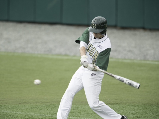 GETTING BETTER: Messalonskee graduate Dylan Foster is batting .324 with a .432 on-base percentage. He's tied for the team lead with seven walks and eight runs scored.