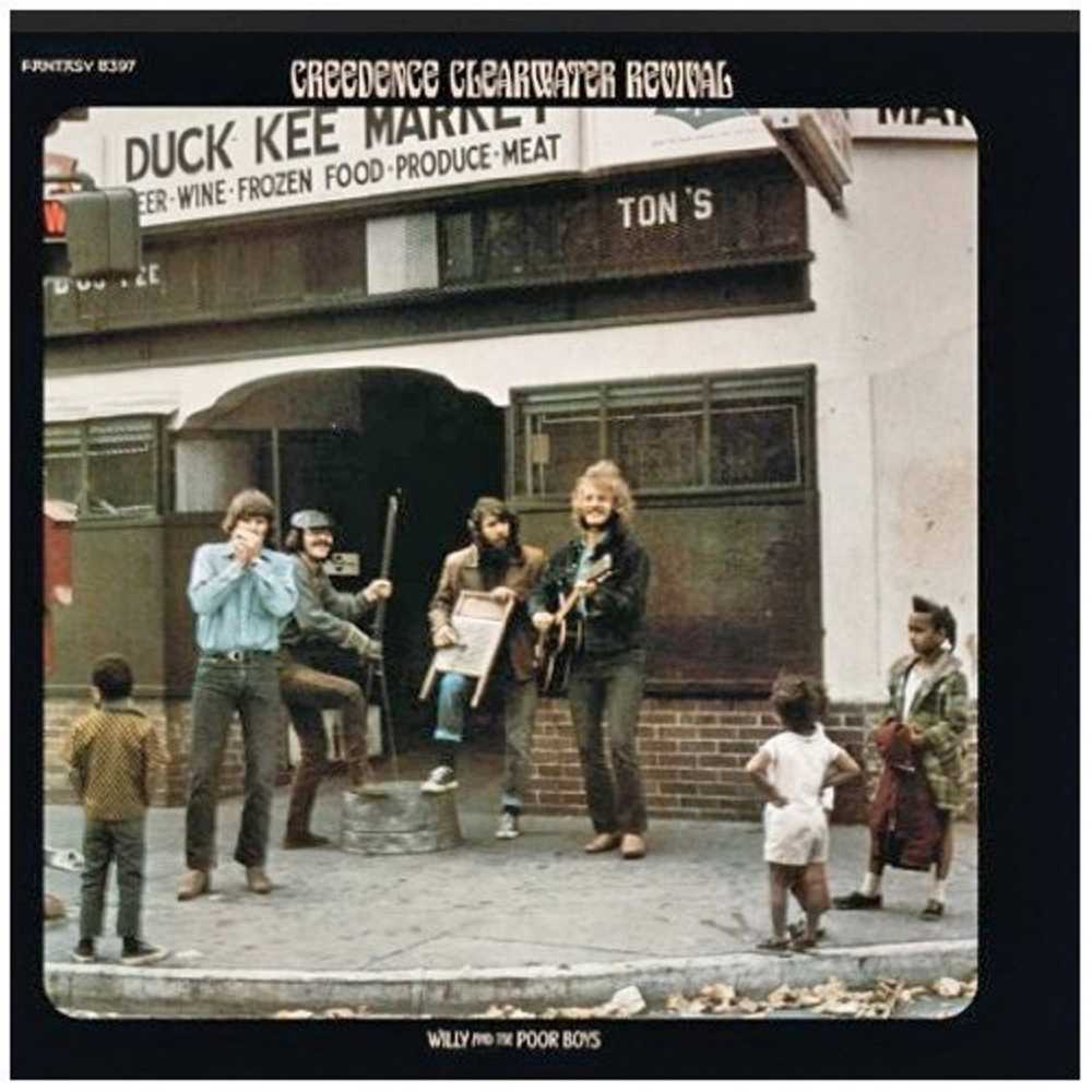 "Creedence Clearwater Revival is shown on the single version of ""Fortunate Son."""