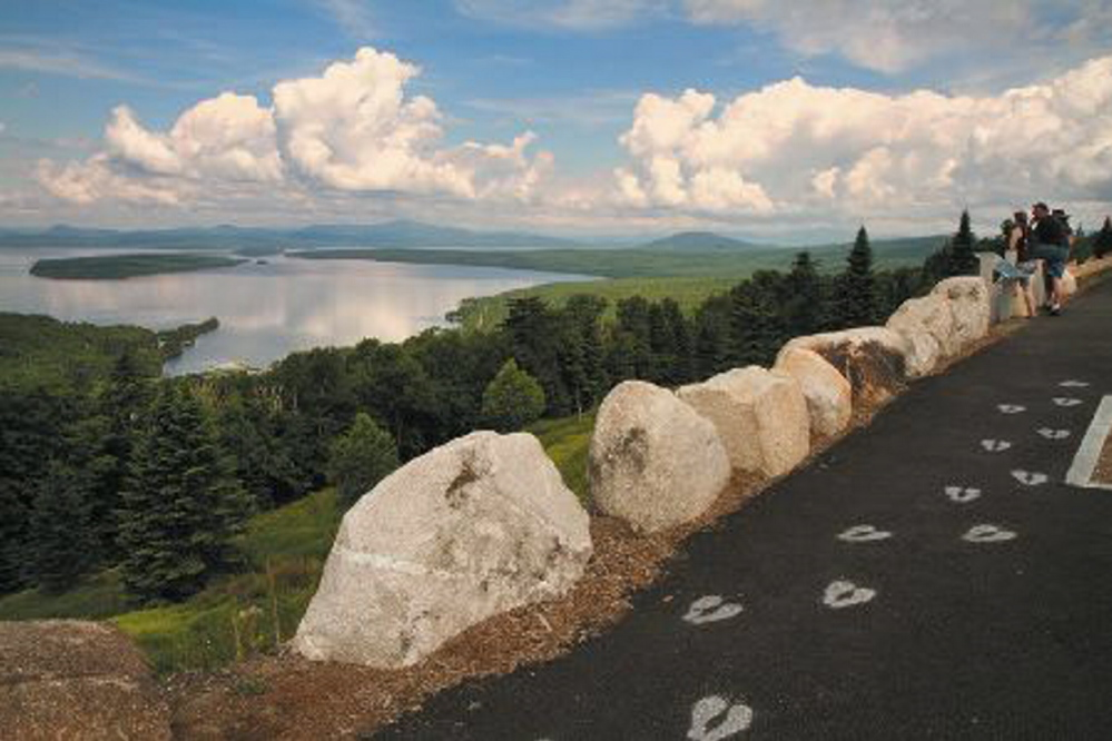 SCENIC: The view from the scenic turnoff on Route 17 in Rangeley at height of Land is an example of one of the draws that Franklin County officials branding the area hope will attract people to the area.