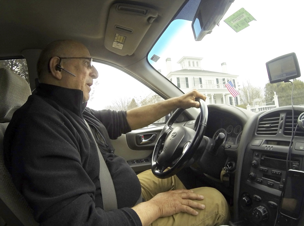 EYES OPEN: Paul Marquis, who drives a cab for his business, Wicked Good Taxi, said he's aware of the customers he transports but doesn't fear them.