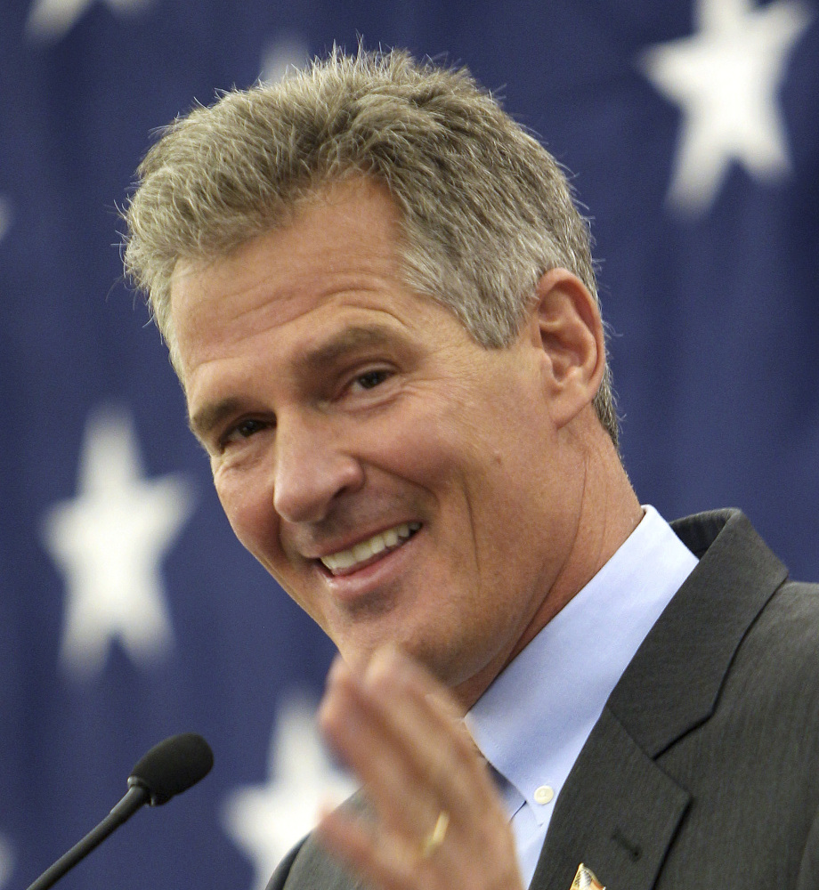 Former Massachusetts Sen. Scott Brown is seeking the Republican nomination in New Hampshire.